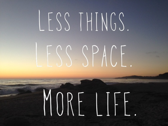 Less things